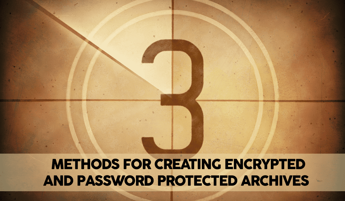 How to Create an Encrypted (Password Protected) Tar or Zip Archive