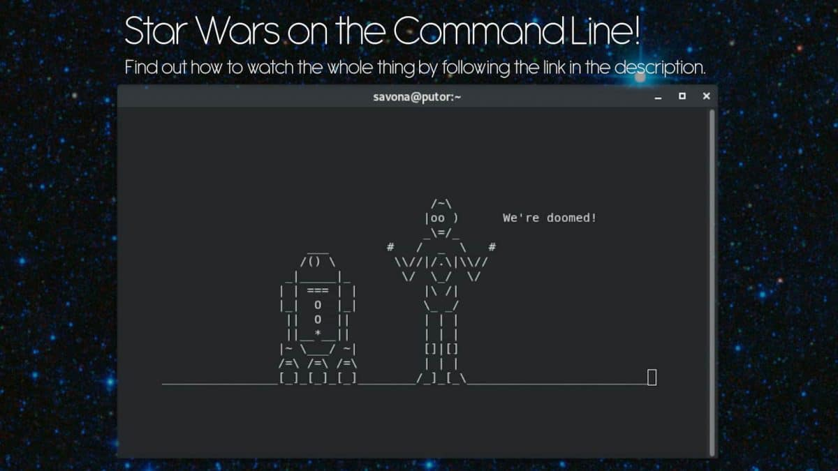 Star Wars on the Linux Command Line