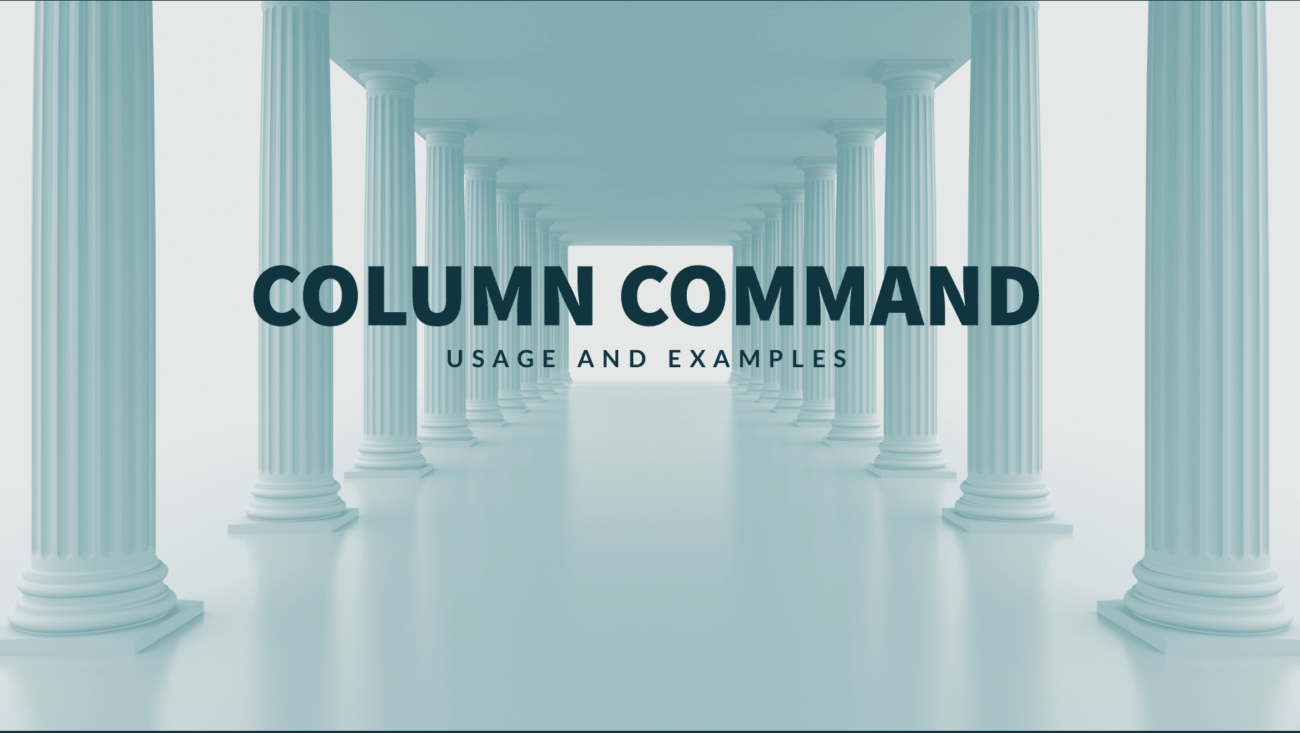 Column Command Usage and Examples
