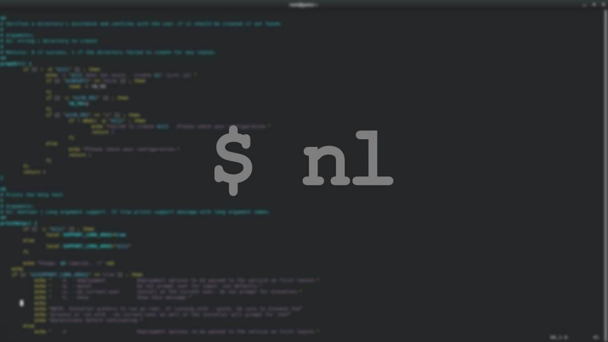 nl Command – Add Line Numbers to Output on Linux Command Line