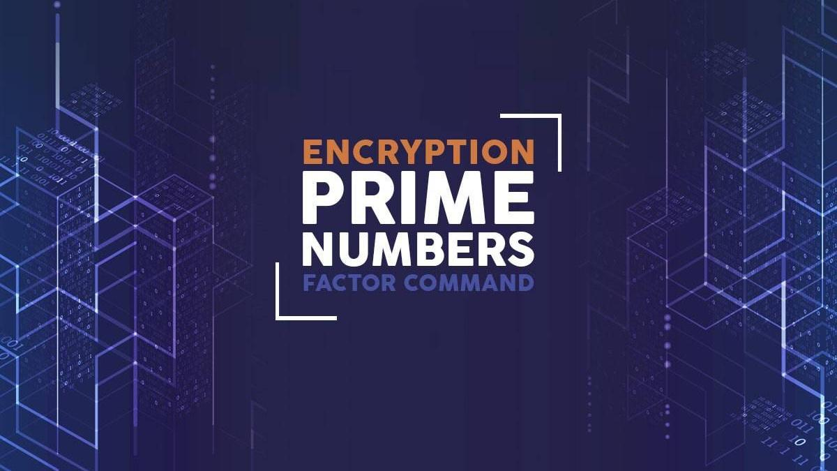 Prime Numbers, Encryption and the Linux Factor Command