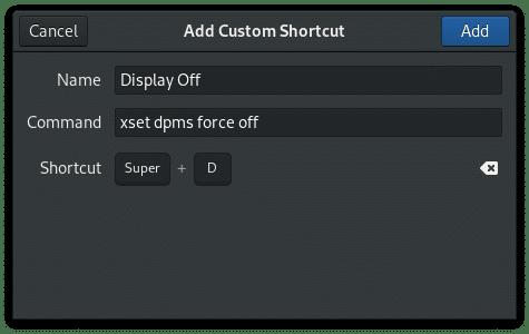 Gnome Add Custom Keyboard Shortcut Window