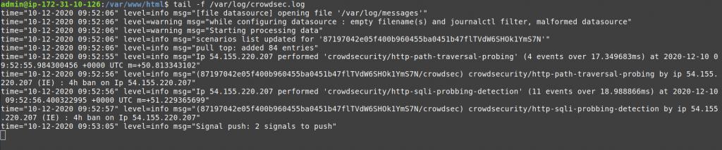 crowdsec logs