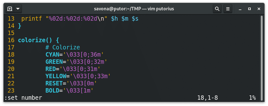 How to Show Line Numbers in vi / vim Editors