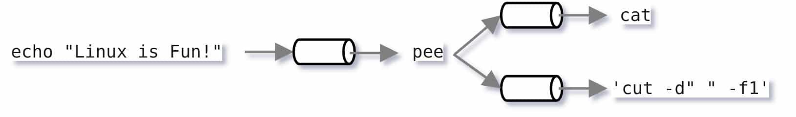 Linux pee command diagram