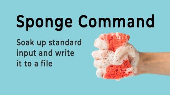 Linux Sponge Command